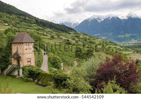 Italy, suedtirol - Maj 25, 2013: View of the old Castle.
