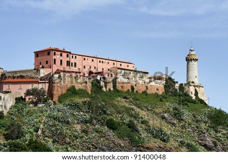 Italy, Tuscany, Elba Island, lighthouse