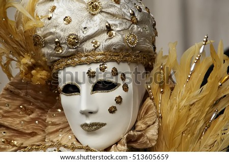 Italy. Venice. 2014.  Beautiful mask at the annual carnival.