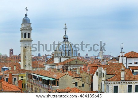Italy, Venice, landscape from the rooftops.