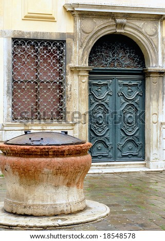 Italy Venice new jewish ghetto synagogue door & Italy Venice New Jewish Ghetto Synagogue Stock Photo (Edit Now ...