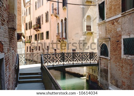 Italy. Venice. View on a small canal