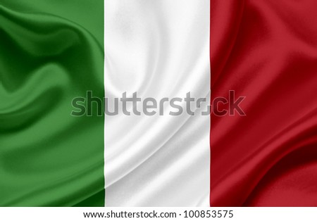 Italy waving flag - stock photo