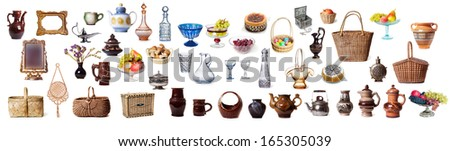Items dish on a white background  - stock photo