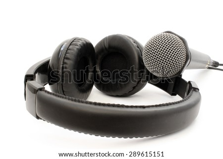 Items for recording on a white background - stock photo