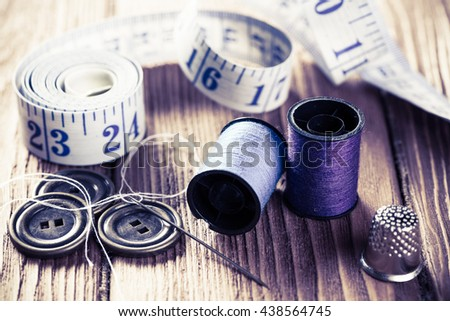 Items for sewing or DIY - stock photo