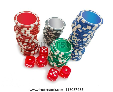 items from the casino for gambling games - stock photo