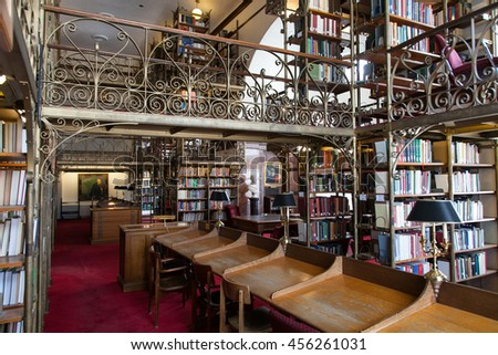 ITHACA, NY, USA - DEC 14, 2011: Inside Uris Library, Cornell University