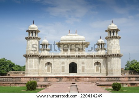 Itmad-ud-Daula, Baby Taj, Agra India - stock photo