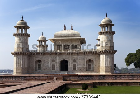 Itmad-Ud-Daulah's Tomb (Baby Taj) at Agra, Uttar Pradesh, India  - stock photo