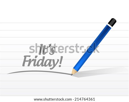 its friday message illustration design over a white background - stock photo