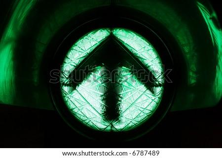 its green, go straight upwards - stock photo