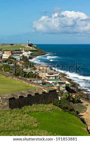 Its taken from one of Forts in Old San Juan. - stock photo