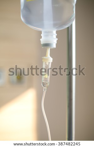 IV drip chamber - stock photo
