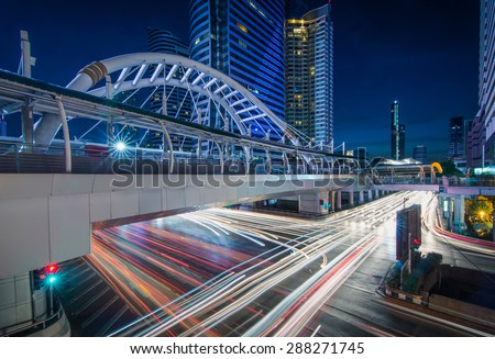 Ivory bridge and car light, Bangkok