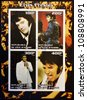 IVORY COAST - CIRCA 2003: collection stamps shows Elvis Presley, circa 2003 - stock photo