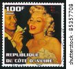 IVORY COAST - CIRCA 2002: stamp printed by Ivory Coast, shows Marilyn Monroe, circa 2002. - stock