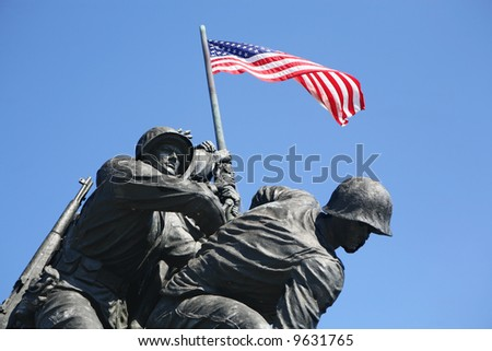 Iwo Jima Marines Memorial - stock photo