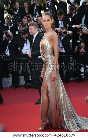 Izabel Goulart attends 'The Last Face' Premiere during the 69th annual Cannes Film Festival at the Palais des Festivals on May 20, 2016 in Cannes, France. - stock photo