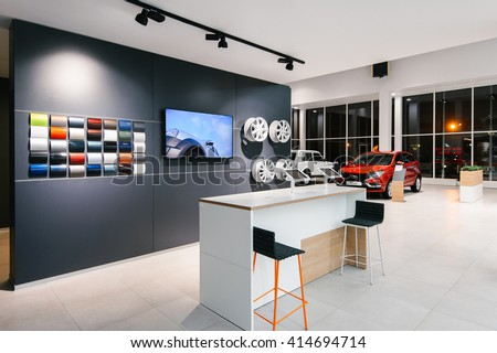 Izhevskrussia08 march brand new design lada stock photo for Best showroom design