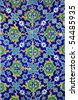 Iznik tiles colorful ornamental details - stock photo