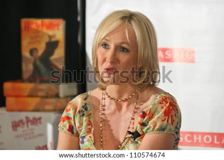 "J.K. Rowling at a press conference to promote her ""Open Book Tour"". Kodak Theatre, Hollywood, CA. 10-15-07"