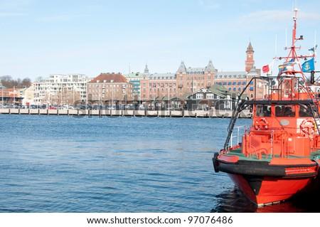 J?zyk orygina?u: angielski port of Helsingborg - stock photo