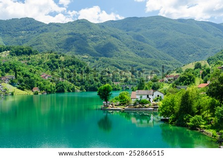 Jablanicko Jazero, Bosnia Herzegovina - stock photo