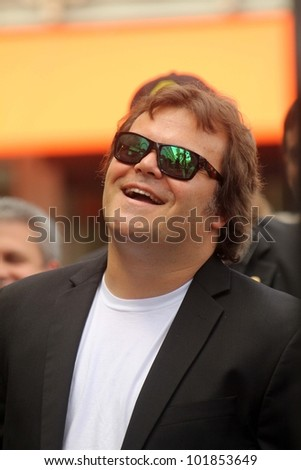 Jack Black at the John Cusack Star On The Hollywood Walk Of Fame, Hollywood, CA 04-24-12 - stock photo