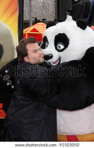 "Jack Black at the ""Kung Fu Panda 2"" Film Premiere, Chinese Theater, Hollywood, CA. 05-22-11"