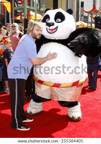 "Jack Black attends the Los Angeles Premiere of ""Kung Fu Panda"" held at the Grauman's Chinese Theater in Hollywood, California, United States on June 1, 2008."