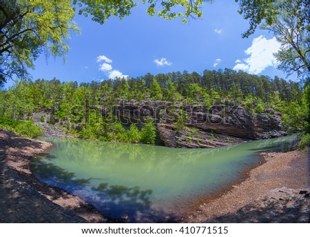 Jack Creek in Arkansas, USA. - stock photo