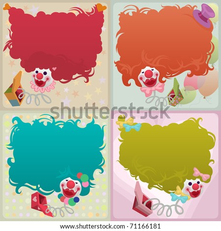 jack in the box card set - for vector version see image no. 70638283 - stock photo