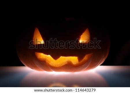 Jack-o'-lantern - stock photo