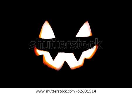 Jack-o'-lantern face - stock photo