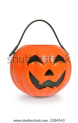 Jack o Lantern Pail - stock photo