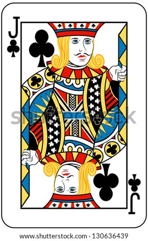 Jack of Clubs playing card - stock photo