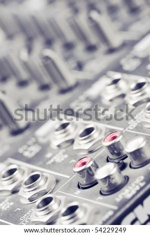 Jack on the mixer - stock photo