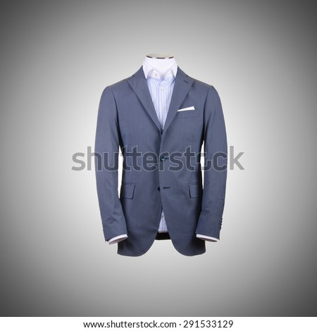 Jacket against the gradient background - stock photo