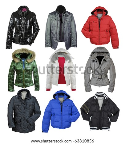jacket collection - stock photo