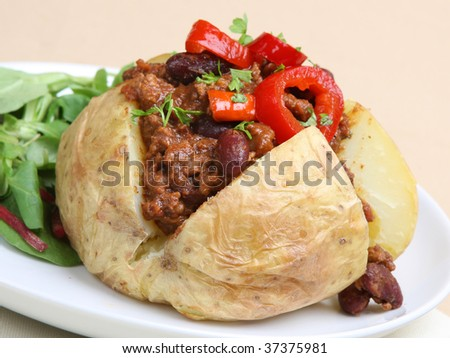 Jacket potato stock images royalty free images vectors for Jacket potato fillings mushroom