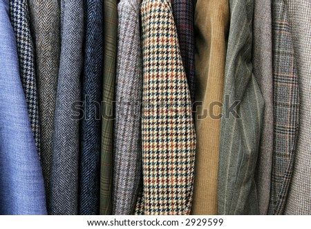 Jackets in shop - stock photo