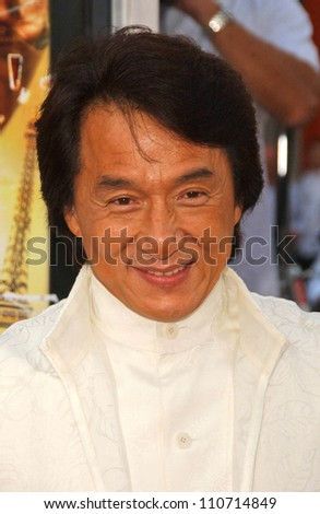 "Jackie Chan at the Los Angeles Premiere of ""Rush Hour 3"". Mann's Chinese Theater, Hollywood, CA. 07-30-07 - stock photo"
