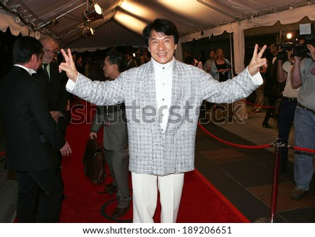 Jackie Chan at THE MYTH Premiere at Toronto Film Festival, Roy Thompson Hall, Toronto, ON, September 15, 2005