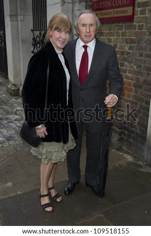 Jackie Stewart arriving for David Frost's Annual Garden Party held at the Royal Chelsea Hospital in London. 10/07/2012 Picture by: Simon Burchell / Featureflash