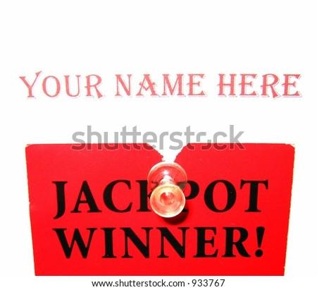 Jackpot winner - stock photo