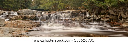 Jackson Falls Panoramic, New Hampshire - stock photo