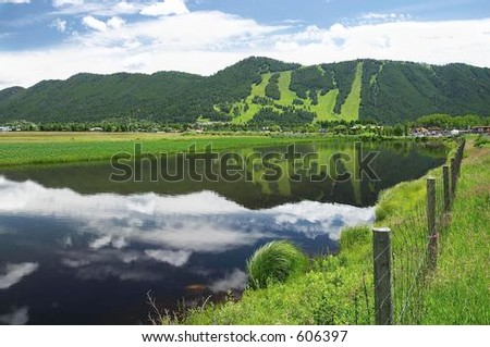 Jackson Hole, Wyoming - stock photo