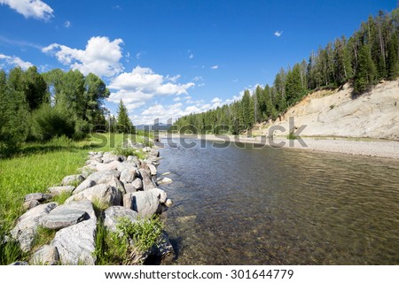 jackson hole, wyoming near yellowstone national parks, USA - stock photo