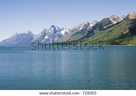 JACKSON LAKE GRAND TETON NATIONAL PARK, WYOMING